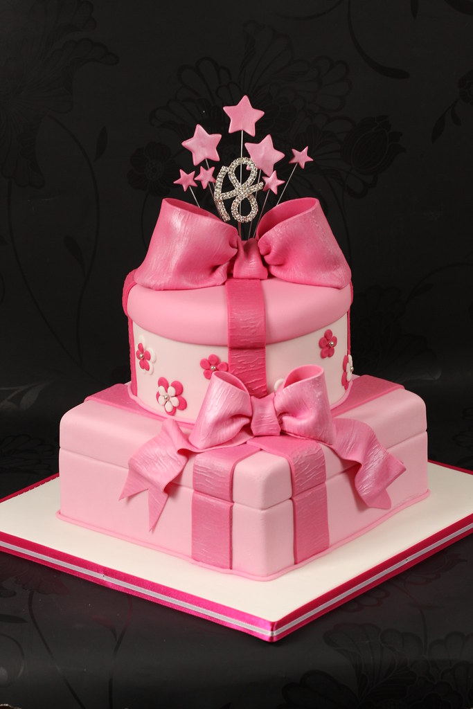 Pink Parcel Cake An 18th Birthday Cake For A Girl Who