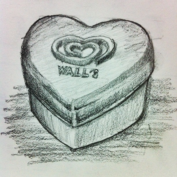 Heart Shaped Box Drawing Heart Shaped Container