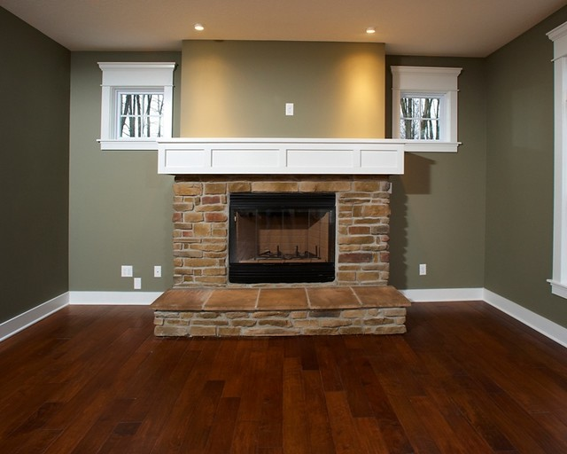 Stone Fireplace With Raised Hearth Portage 3252 By Wayne Homes Flickr