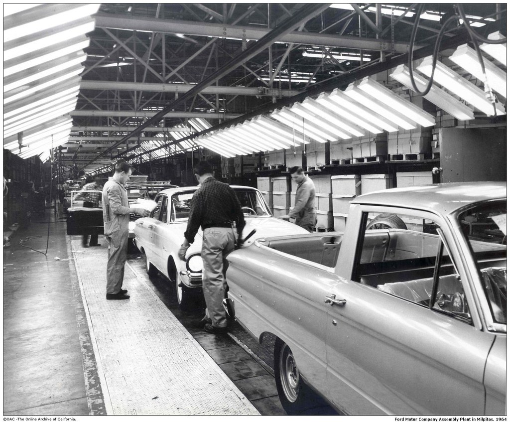Ford motor company assembly plant in milpitas san jose a for United motors san jose
