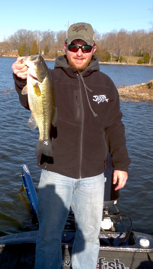Nice lake of egypt bass our very own jake wininger shows for Lake of egypt fishing report