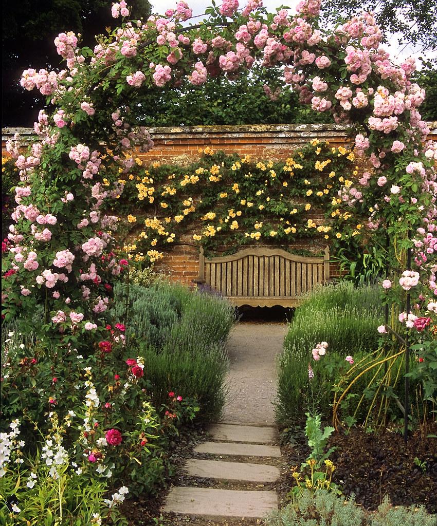 Romantic Garden Designs: Mottisfont Abbey Rose Gardens, Hampshire, UK