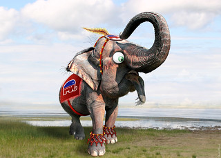 GOP Elephant - Caricature | by DonkeyHotey