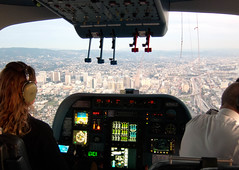 Cockpit view of Oakland