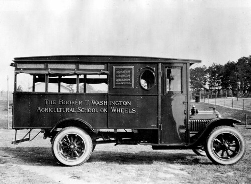 Booker T. Washington Agricultural school truck on wheels