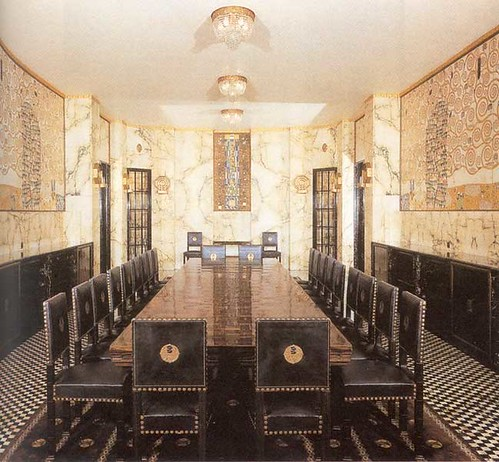 Josef hoffmann palais stoclet brussels dining room for Dining room c house of commons