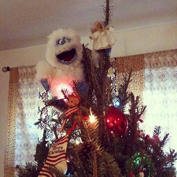 Snowman White Christmas Tree