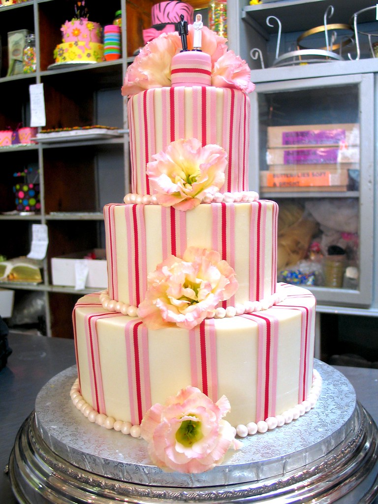 3-tier Wicked Chocolate wedding cake iced in white ganache… | Flickr