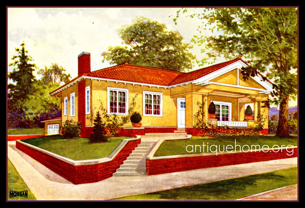 Red Roof Bungalow by Morgan | www.antiquehome.org | Daily