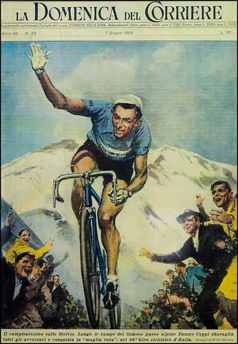 Fausto Coppi on the Stelvio | by smashred