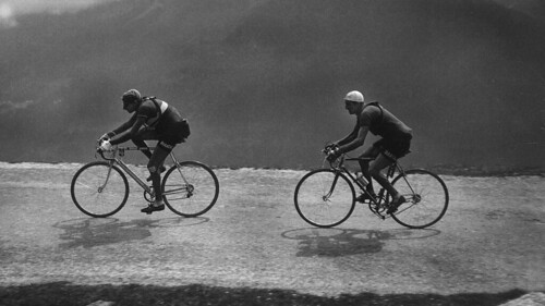 Bartali on the heels of Coppi _ 1949 Tour de France | by Stronglight