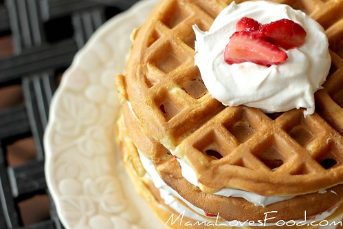 Waffle Iron Strawberry Shortcake | by MommyNamedApril