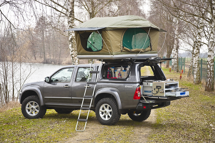 isuzu rodeo with road ranger camping equipment www. Black Bedroom Furniture Sets. Home Design Ideas