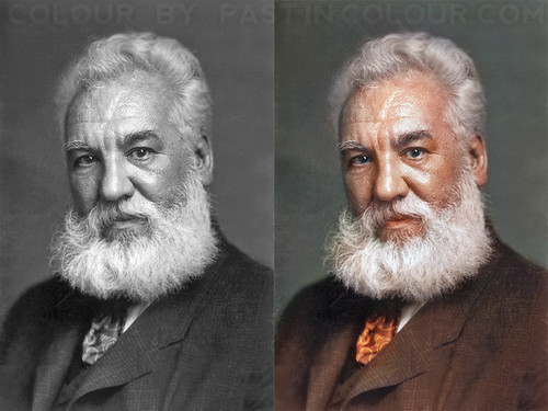 Alexander Graham Bell Colourized | by Förr i färg