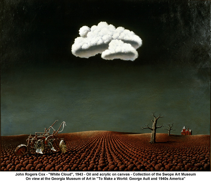 John Rogers Cox Quot White Cloud Quot 1943 The Georgia Museum