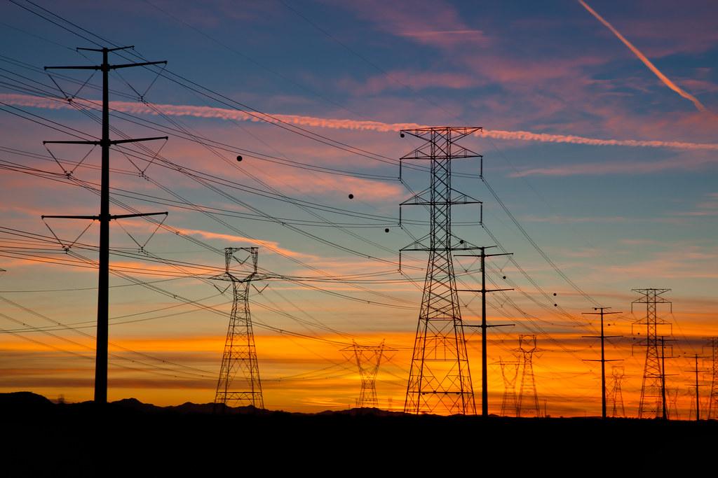 24 Jan 2012 Goodyear Az Power Lines At Sunset Flickr