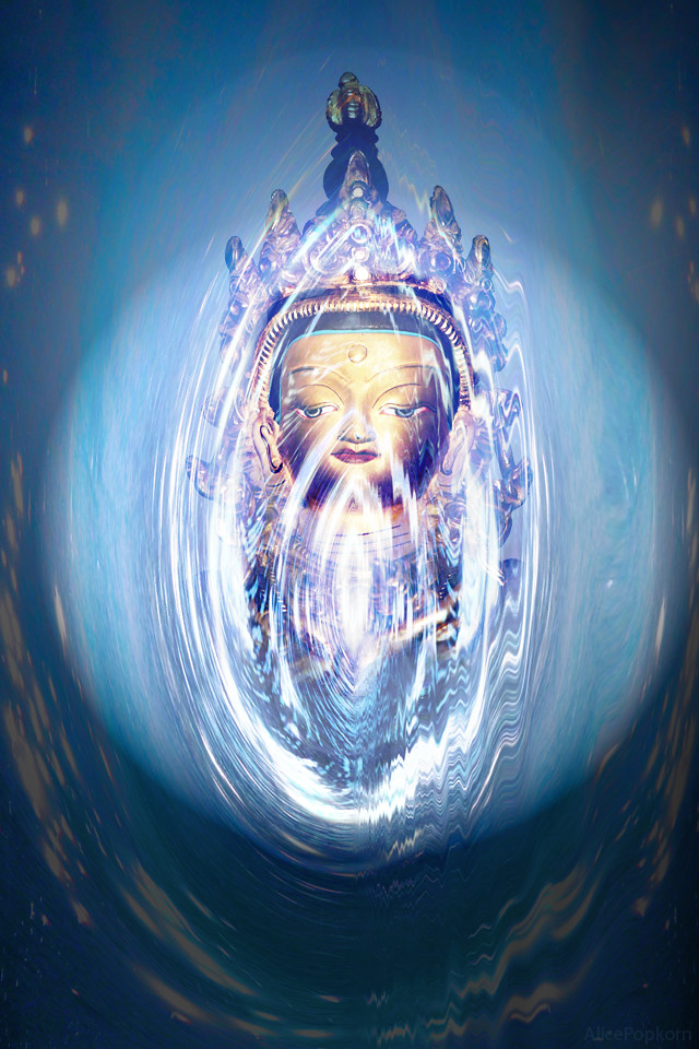 iPad wallpaper for iPhone - blue Buddha | Flickr - Photo Sharing!