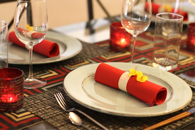 Lunar new year dinner table setting flickr photo sharing - New year dinner table setting ...