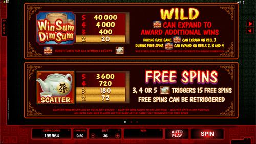 free Win Sum Dim Sum slot payout