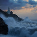 Rough sea Mumbles Lighthouse 2