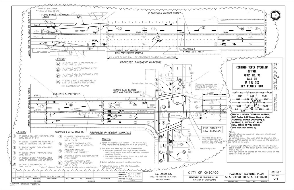 Pavement marking plans | Posted for use in an article on ...