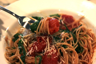 Arugula and Tomato Pasta | by Krystaslifeinfood.com