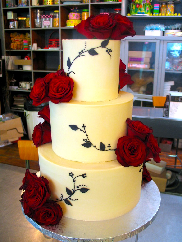 3 Tier Wicked Chocolate Wedding Cake Iced In White Chocola