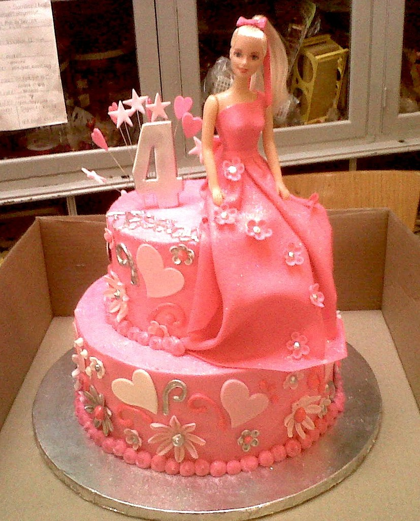 2 Tier Wicked Chocolate Cake Iced In Pink Butter Icing Dec