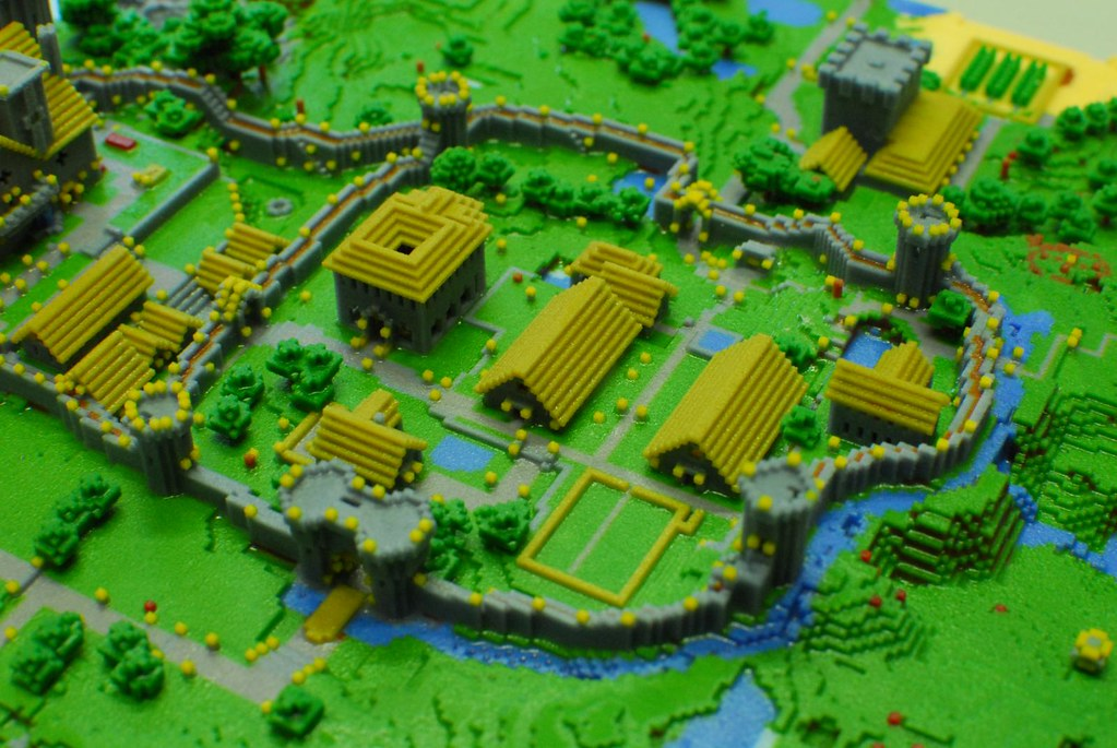 Another view from the top | A 3D model of a minecraft ...