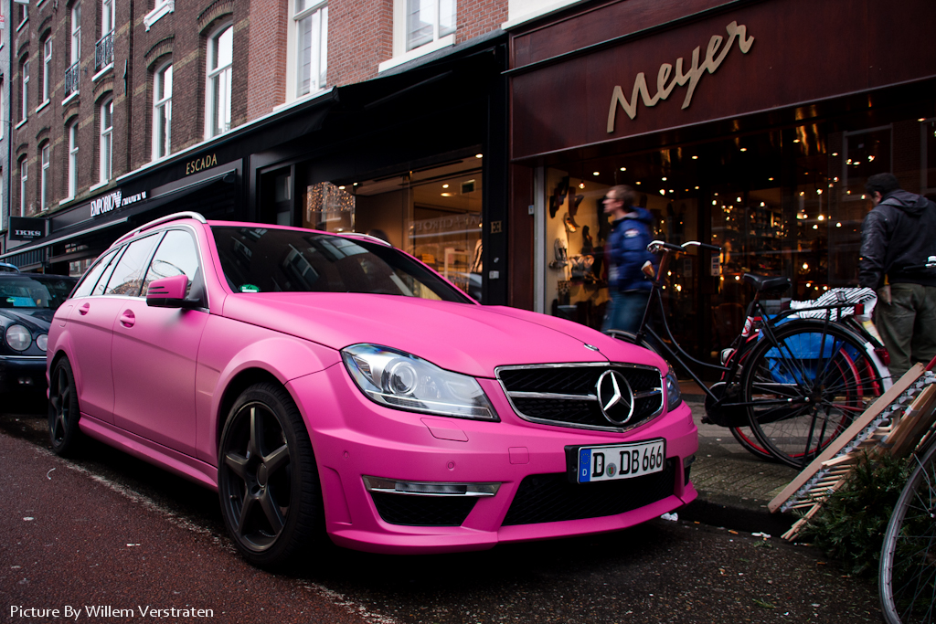Crazy I Spotted This Matte Pink C63 Amg In Amsterdam I