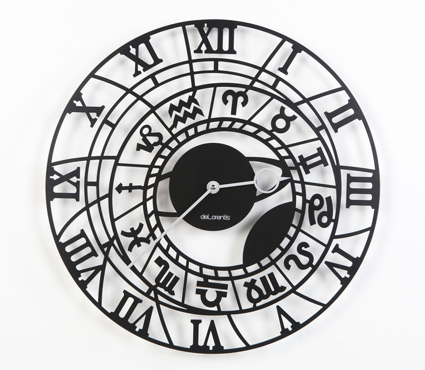 wall clock zodiac horloge murale art deco les horloges mu flickr. Black Bedroom Furniture Sets. Home Design Ideas