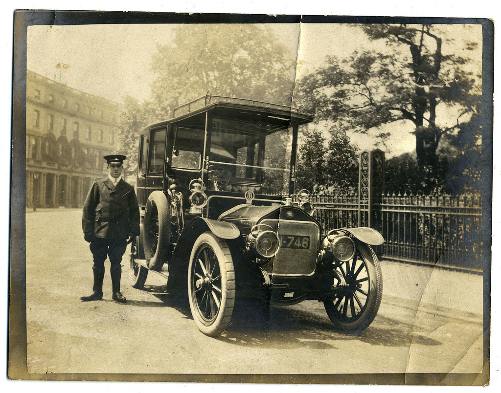 Wolseley Siddeley Limousine And Chauffeur London C1906 19