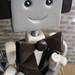 Robot Wedding Cake Topper   Brown Suit