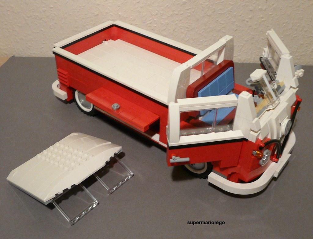 Vw Transporter Camping >> Lego VW T1 Pickup | Lego VW T1 Pickup Transporter made of Le… | Flickr