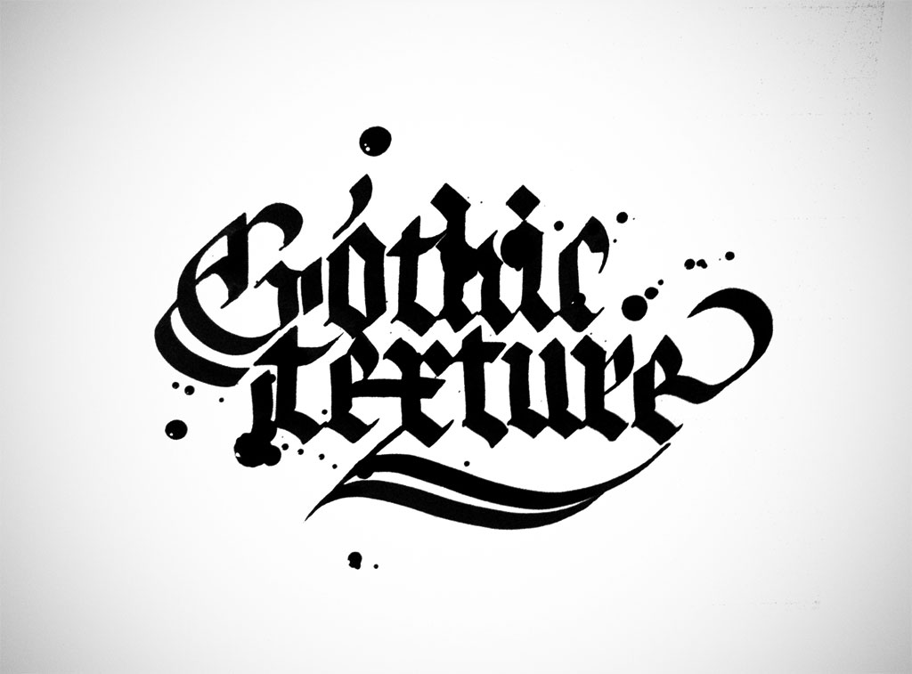 Gothic texture calligraphy a study made with my