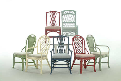 Braxton Culler Dining Painted Rattan Chairs We Can