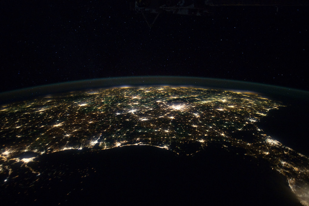 Eastern Two Thirds Of U S At Night Nasa International S