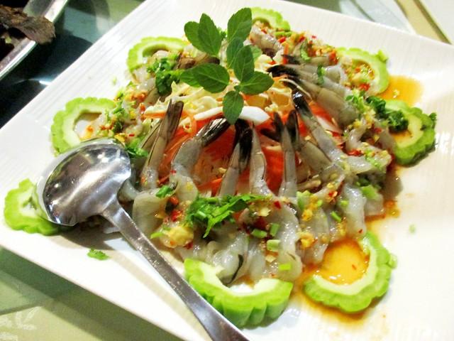 Flavours Thai Kitchen shrimp sashimi