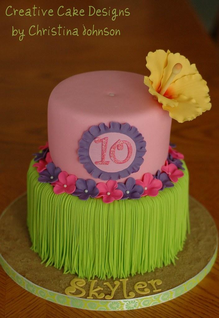 Luau cake for ICING SMILES Luau Cake for Icing Smiles ...
