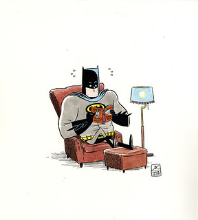 ONE HOUR DRAWING :: Bat-Anger Bat-Management | by Dustin Harbin