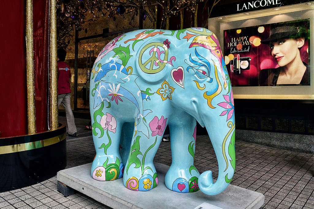 Elephant Painted Picture  David Shephers