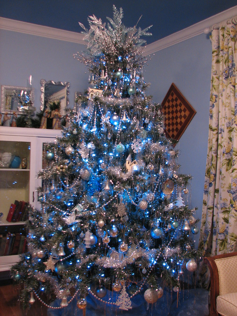Blue And Silver Tree In The Guest Room Blogged At