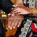 dark henna stain for bride, tops of hands