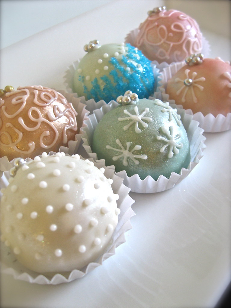 Ornament Cake Balls Festive Flavors In Quot Fresh Snow