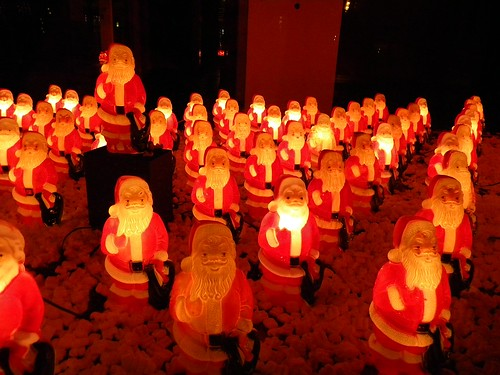 plastic Santas in the Pearl District | by N.P. Thompson