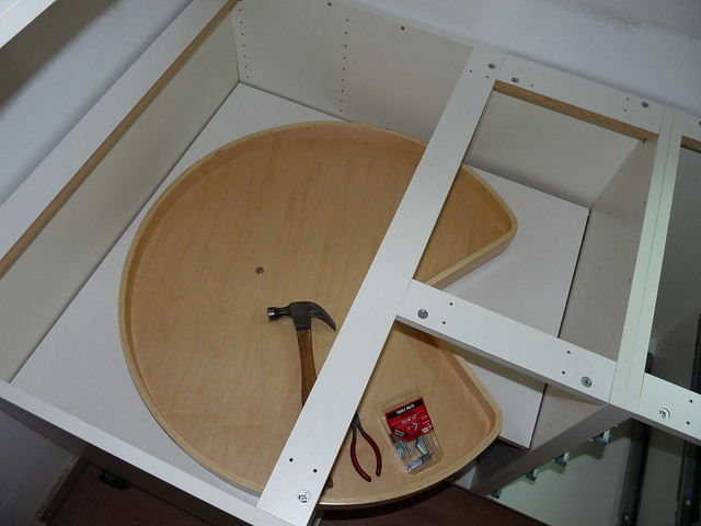 Kitchen Cabinet Kidney Pull Out