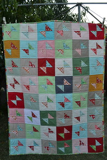 Boxing Day Bow-tie baby quilt | by sew&sews
