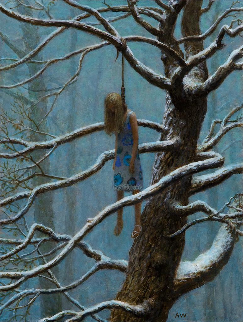 "Sea of Trees | 12"" x 9"", oil on panel, 2011 | Aron ..."