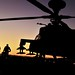 Army Apache Helicopter on Exercise Crimson Eagle in the USA
