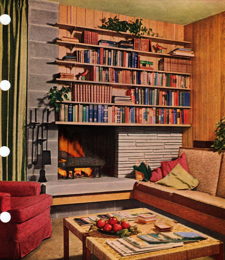Mid Century Modern Fireplace 1956 Edition Better Homes Flickr